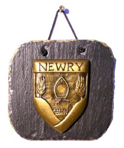 Newry Crest Slate Plaque